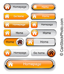 Home high-detailed web button collection.