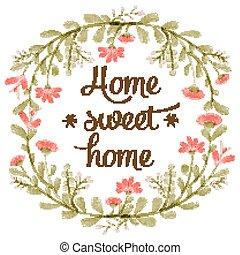 "home"", ""home, 甘い, 水彩画, デリケートである, 背景, 花"