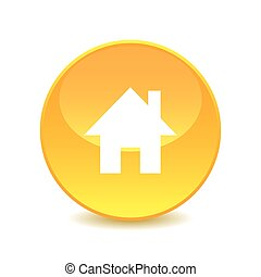 home , home icon on white background , Vector.