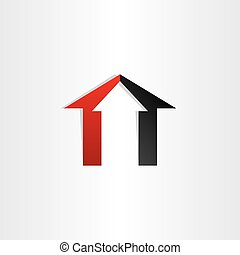 home house icon with arrow up