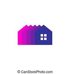 home house mortgage logo vector icon