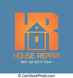 Home, house repair vector logo, badge, design element, emblem, icon