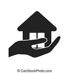 home house silhouette icon. Vector graphic