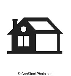 home house silhouette icon. Vector graphic - home house...