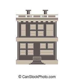 Home House Vintage Vector Retro Illustration Old Cartoon Background Estate Design