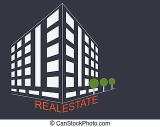 Real estate development architecture concept symbol