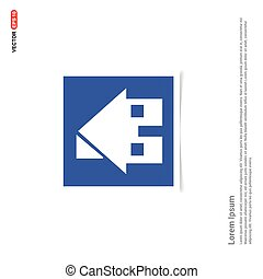 Home Icon - Blue photo Frame