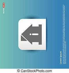 Home Icon - Blue Sticker button