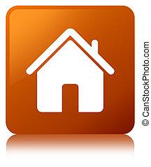 Home icon brown square button