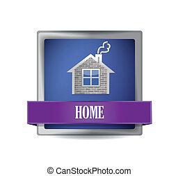 Home icon button illustration