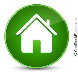 Home icon elegant green round button