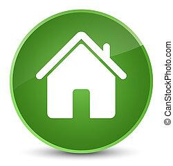 Home icon elegant soft green round button