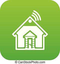 Home icon green vector