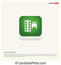 Home icon Green Web Button