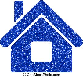 Home Icon Grunge Watermark