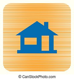 Home icon, house silhouette. Vvector illustration
