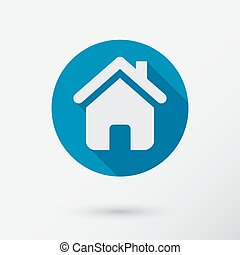 Home icon in flat style.