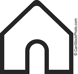 Home icon in linear style for social media
