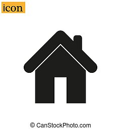 Home Icon in trendy flat style isolated on grey background. Homepage symbol for your web site design, logo, app, UI. Vector illustration,
