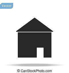 Home Icon in trendy flat style isolated on white background. Homepage symbol for your web site design, logo, app, UI. Vector illustration, EPS10