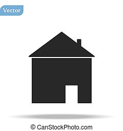 Home Icon in trendy flat style isolated on white background. Homepage symbol for your web site design, logo, app, UI. Vector illustration, EPS 10.