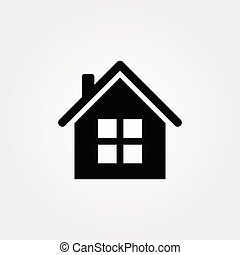 Home icon isolated on white background. Vector illustration