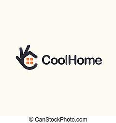 Home icon. Ok symbol, Okay vector logo, high quality