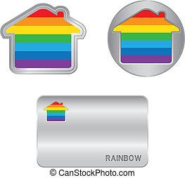 Home icon on the Rainbow flag