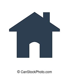 home icon on white background.
