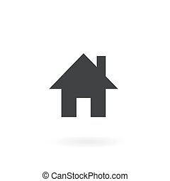 home icon on white background , Vector.