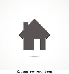 Home icon on white