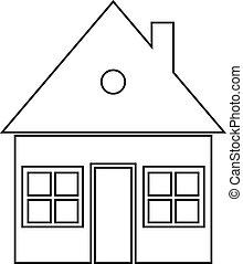 Home icon on white