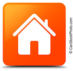 Home icon orange square button