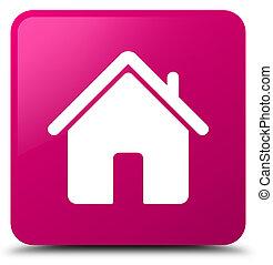 Home icon pink square button