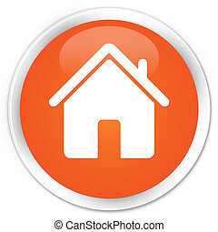 Home icon premium orange round button