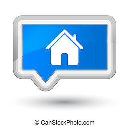 Home icon prime cyan blue banner button