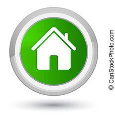 Home icon prime green round button