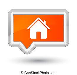 Home icon prime orange banner button