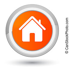 Home icon prime orange round button
