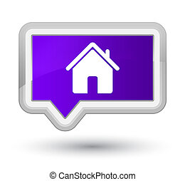 Home icon prime purple banner button