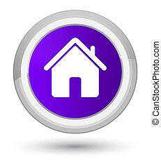 Home icon prime purple round button