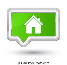 Home icon prime soft green banner button