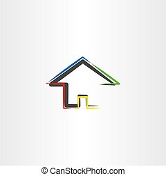 home icon real estate sign vector house vector symbol