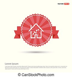 Home Icon - Red Ribbon banner