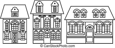 home icon set - houses icons set, real estate, vector set...