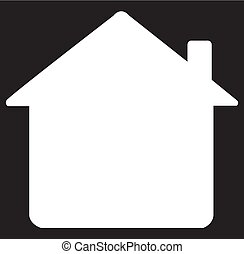 Home icon silhouette