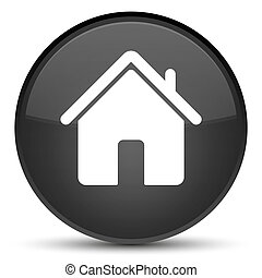Home icon special black round button