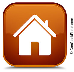 Home icon special brown square button