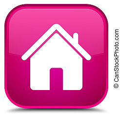 Home icon special pink square button