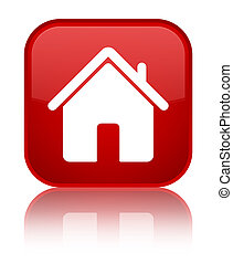 Home icon special red square button